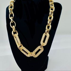 Gold plated chunky fancy chain necklace